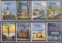 Poster Stamps, Maine #17-24