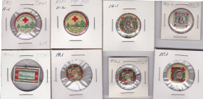 Early Christmas Seal Buttons used seal designs