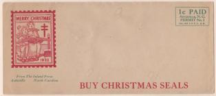 1932 Christmas Seal Envelope
