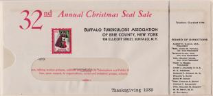 1938 Christmas Seal Envelope