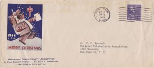 1944 Christmas Seal Envelope