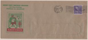 1945 Christmas Seal Envelope