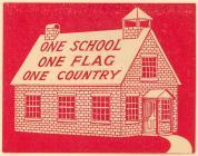 KKK School house label #2