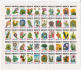 1977 Mexican TB Seal Sheet