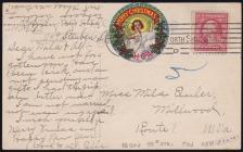 1917 Holy Childhood Christmas Seal Tied on, LATE USAGE?