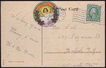 1916 Holy Childhood Christmas Seal Tied on
