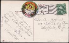 Holy Childhood #1 1915 Catholic Christmas Seal Tied On