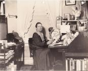 1933 Publicity photo of Emily P. Bissell at her desk